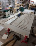 Headboard glue up