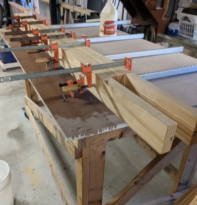 Partial Glue Up