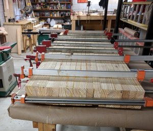 Field Board Glue Up